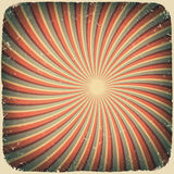 Grunge swirl rays retro background. Royalty Free Stock Image