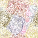 Grunge swirled quilted seamless pattern in pastel colors Stock Images