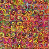 Grunge swirled rainbow seamless pattern Stock Image
