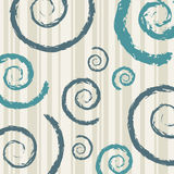 Grunge swirls. Illustration with grunge style swirls on a striped background stock photography