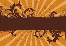 Grunge swirls. Grunge brown and orange background or site banner vector illustration