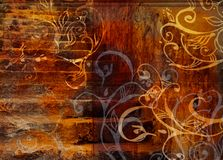Grunge swirls stairs background Royalty Free Stock Photos
