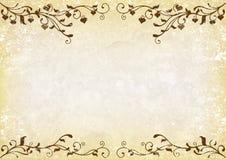 Grunge swirly background. Grunge background with brown swirls and hearts stock illustration