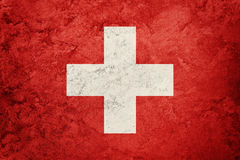 Grunge Switzerland flag. Swiss flag with grunge texture. Royalty Free Stock Images