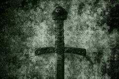 Grunge sword background Royalty Free Stock Photo