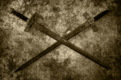 Grunge swords background Stock Images