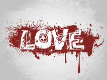 Grunge syle love background vector Royalty Free Stock Photo