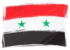 Grunge Syria flag Stock Image