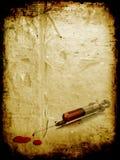 Grunge syringe Stock Image