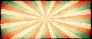 Grunge sztandar z papierową teksturą i pasiastym brust wzorem Fotografia Stock