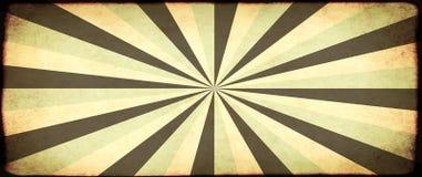 Grunge sztandar z papierową teksturą i pasiastym brust wzorem Zdjęcia Royalty Free