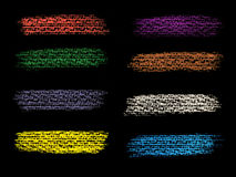 Grunge sztandaru tło farba Zdjęcie Royalty Free