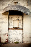 Grunge Tür Stockfoto