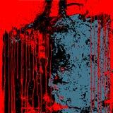 Grunge tła czerwony czarny błękit odizolowywający ilustracji