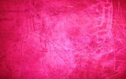 Grunge tła Różowa tekstura - wibrujący barwiony czerwony valentine ` Obraz Stock