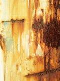 grunge tła rusty metali Rdzewiejący stali cyny abstrakta wzór Obrazy Royalty Free