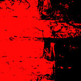 Grunge tło czerep ściana z cegieł czerń i czerwień Zdjęcia Royalty Free