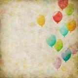 Grunge tło z balonami Zdjęcia Stock