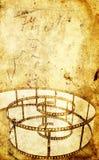 Grunge tło z filmstrip Fotografia Stock