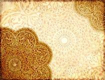 Grunge tło z papierową teksturą i kwiecisty ornament w Moro Fotografia Royalty Free