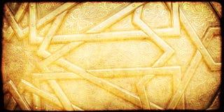 Grunge tło z papierową teksturą i kwiecisty ornament w Moro Zdjęcie Stock