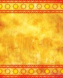 Grunge tło z pochodzenie etniczne ornamentami zdjęcia stock