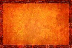 Grunge tło z Amerykańsko-indiański tradycyjnymi wzorami royalty ilustracja