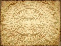 Grunge tło z aztec kalendarzem Fotografia Stock