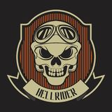 Hellrider ribon skull royalty free illustration