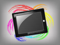 The grunge tablet Royalty Free Stock Image