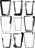 Grunge tall glasses Royalty Free Stock Photos