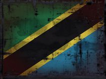 Grunge tanzania flag Royalty Free Stock Photo