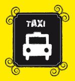 Grunge taxi Stock Image