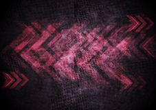 Grunge tech background with arrows Stock Photography