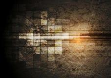 Grunge tech background Stock Image