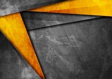 Grunge tech corporate orange and dark grey background. Grunge tech material contrast orange and dark grey corporate texture background. Vector illustration stock illustration