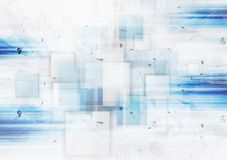 Grunge tech vector background with squares royalty free illustration