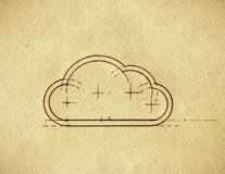 Cloud Blueprint Stock Images