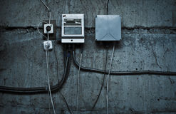 Grunge technological background with cables Royalty Free Stock Photography