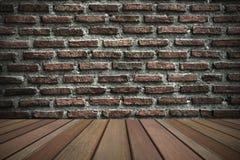 Grunge tegelstenvägg Arkivfoto