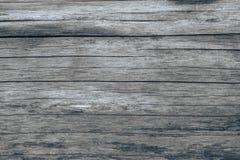 Grunge tekstura stare deski, horyzontalni lampasy, szarość, z ciemnić łatami Obraz Royalty Free