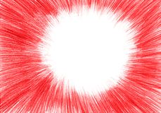 Grunge tekstura, węgla drzewnego tło, czerwona ołówek rama zdjęcia royalty free
