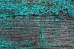 Grunge tekstury rocznika Błękitnej zieleni Stary tło Drewniana deska Horyzontalni lampasy Zdjęcie Stock