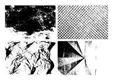 Grunge tekstury tła ustawiający Fotografia Stock