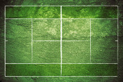 Grunge Tennis Court Stock Image