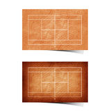 Grunge  tennis field recycled paper Stock Photography