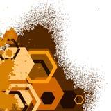 Grunge terracott baner Stock Image