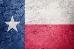 Grunge Texas state flag. Texas flag background grunge texture. Royalty Free Stock Photo