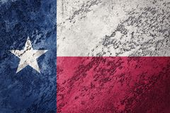 Grunge Texas state flag. Texas flag background grunge texture. State Flag stock photography