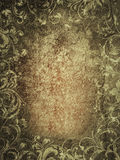 Grunge texture. Floral illustration on grunge background Royalty Free Stock Photos